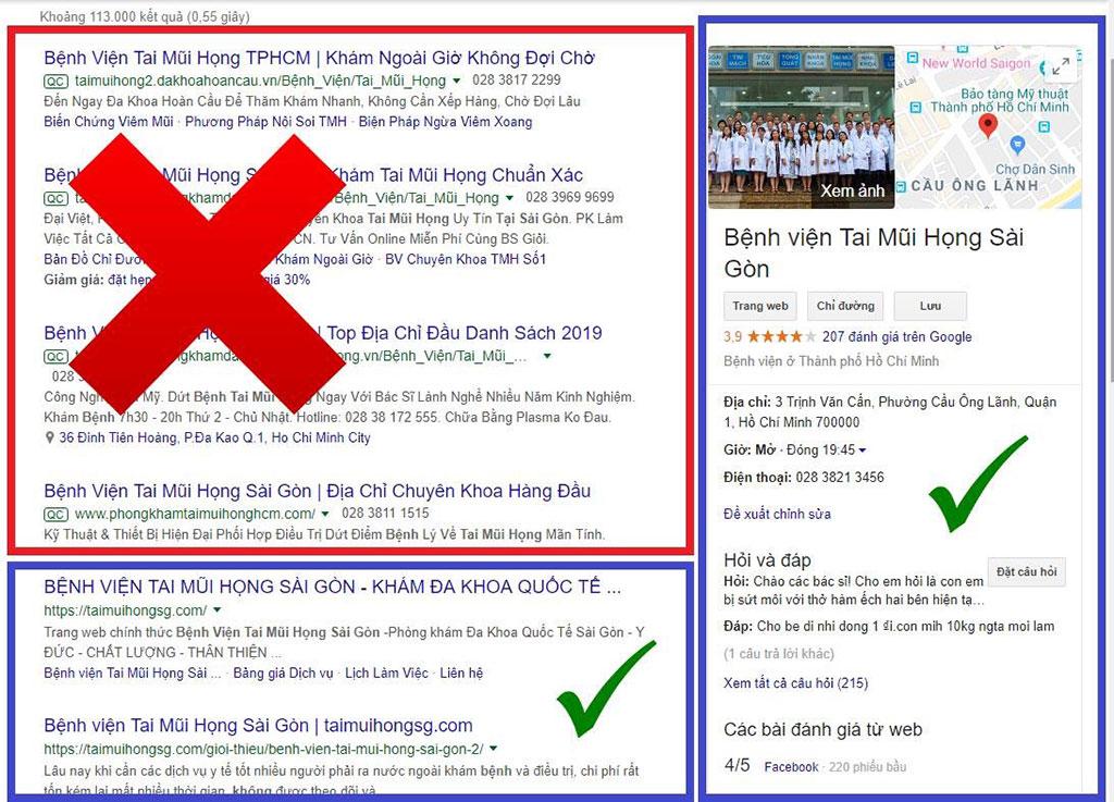 Thông báo về địa chỉ chính xác của Bệnh viện Tai Mũi Họng Sài Gòn - Taimuihongsg.com