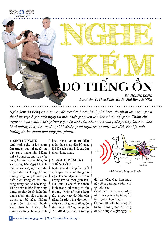 NGHE KÉM DO TIẾNG ỒN - BẢN TIN SỨC KHỎE THÁNG 5 - Bệnh viện Tai Mũi Họng Sài Gòn