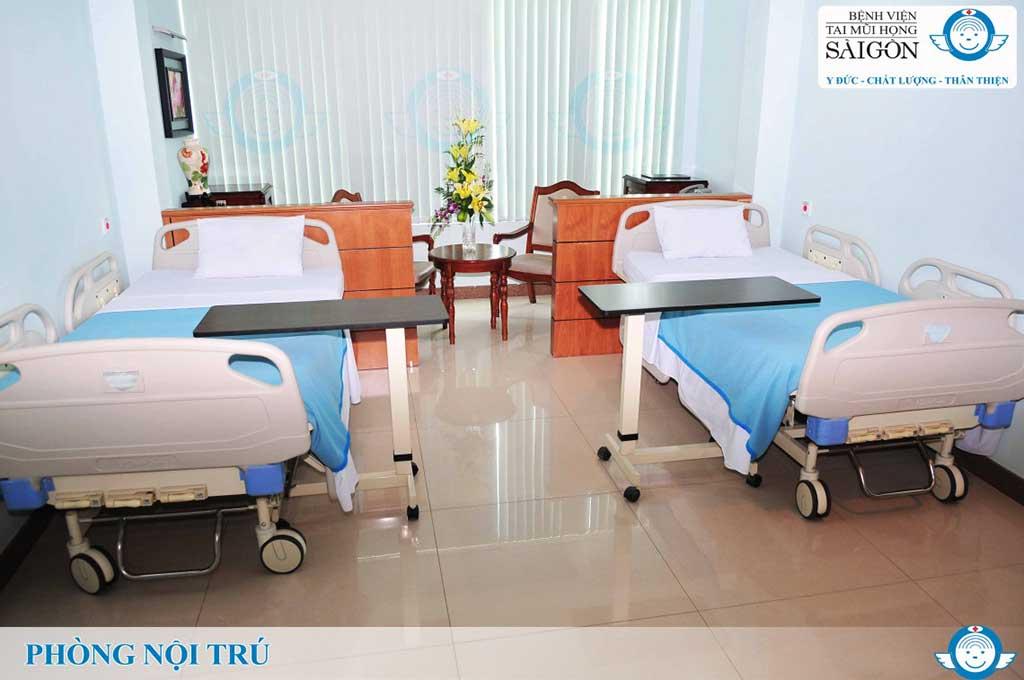 Phòng nội trú 2 giường - Bệnh viện Tai Mũi Họng Sài Gòn