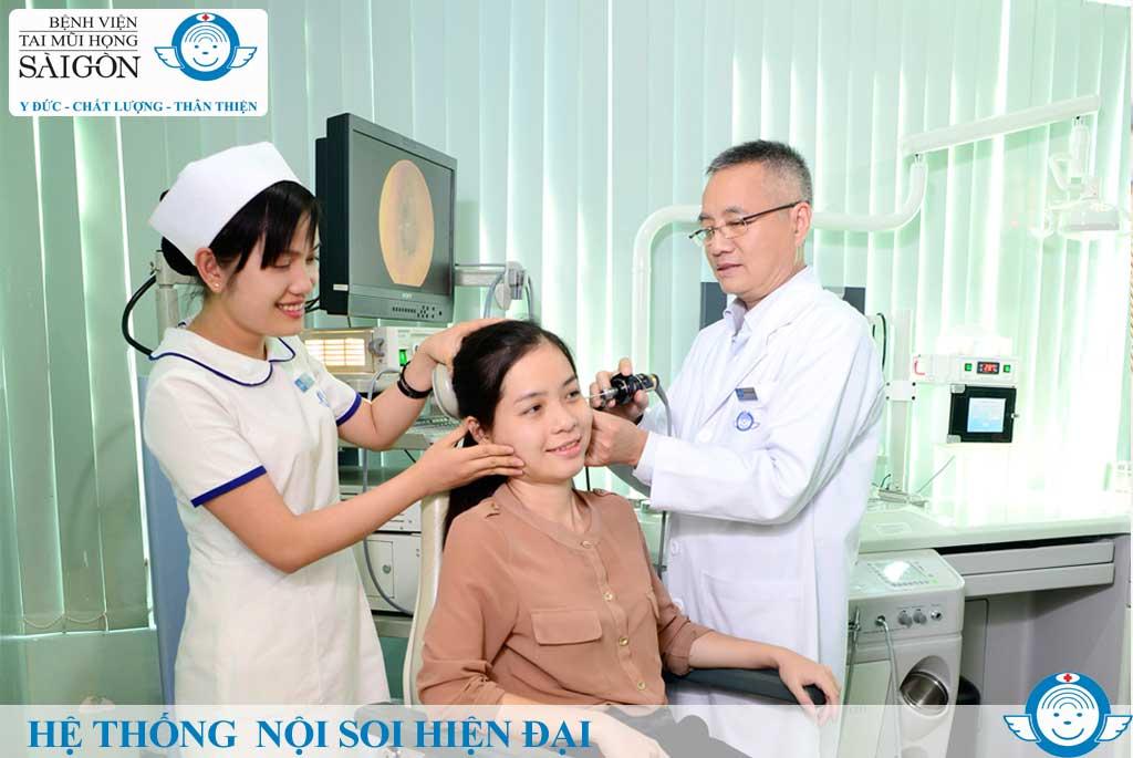 Hệ thống Nội soi Hiện đại - Bệnh viện Tai Mũi Họng Sài Gòn