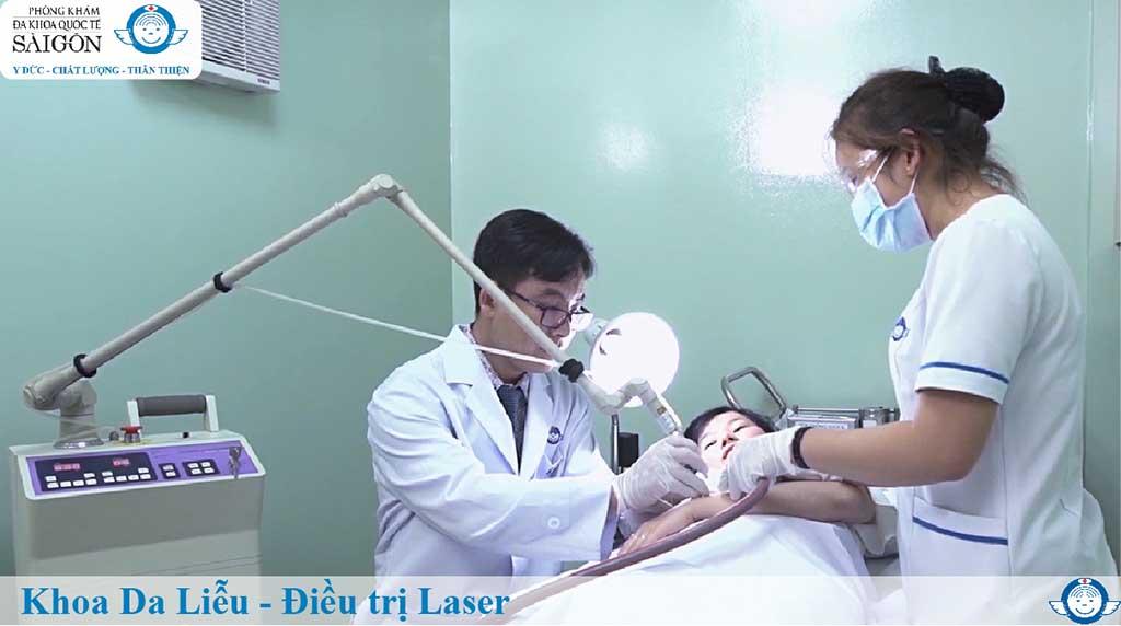 Khoa Da liễu - Điều trị Laser - Phòng Khám Đa Khoa Quốc Tế Sài Gòn