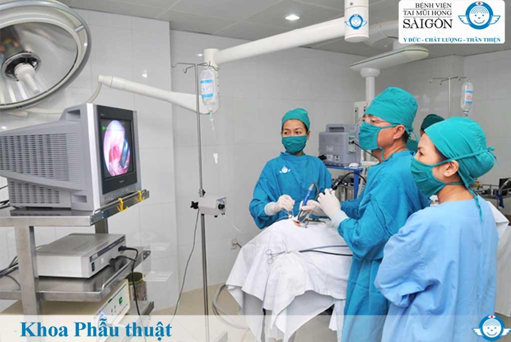 Khoa phẫu thuật - Bệnh viện Tai Mũi Họng Sài Gòn