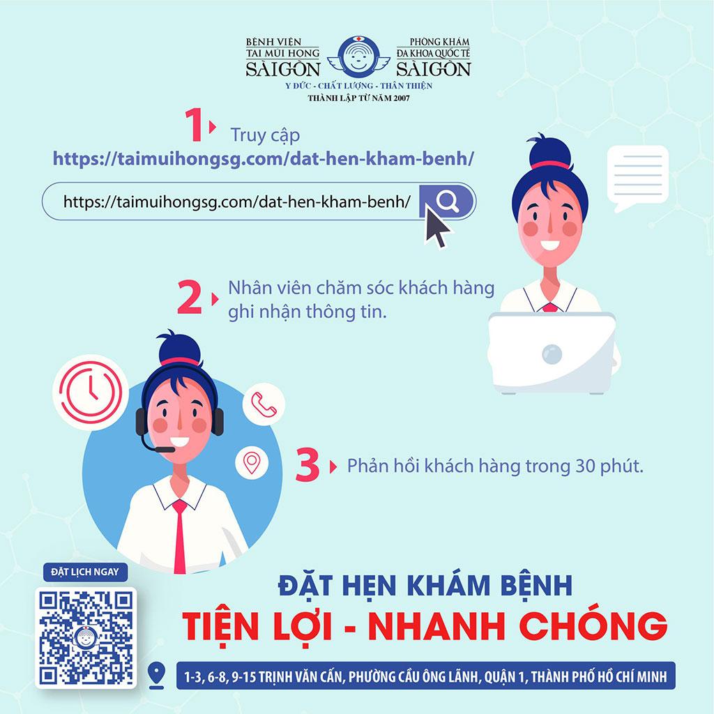 Đặt hẹn khám bệnh - Bệnh viện Tai Mũi Họng Sài Gòn