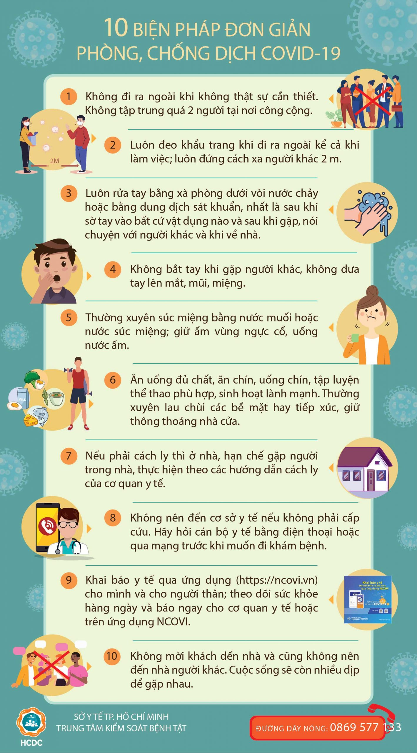 10 Biện pháp đơn giản phòng, chống dịch COVID-19 - Taimuihongsg.com