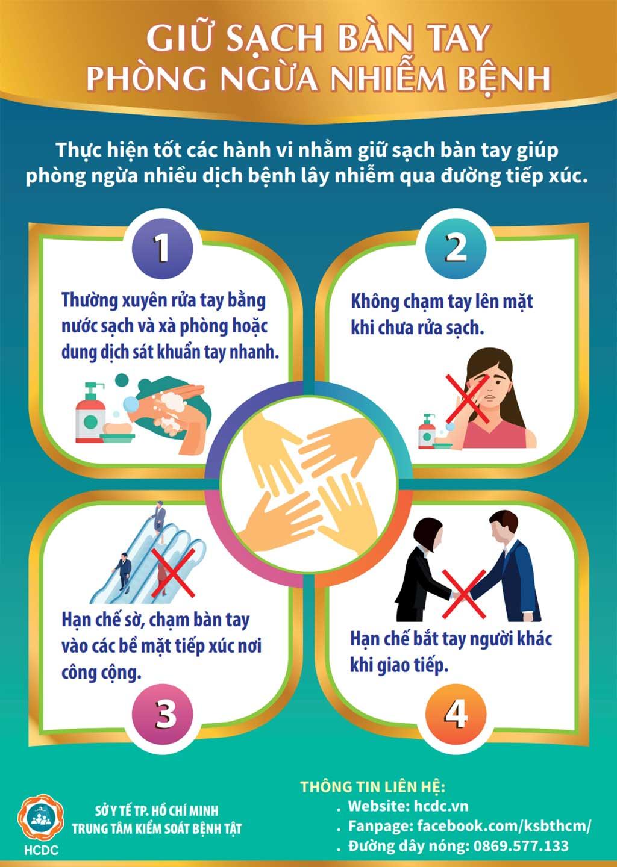 Giữ sạch bàn tay phòng ngừa nhiễm bệnh - Taimuihongsg.com