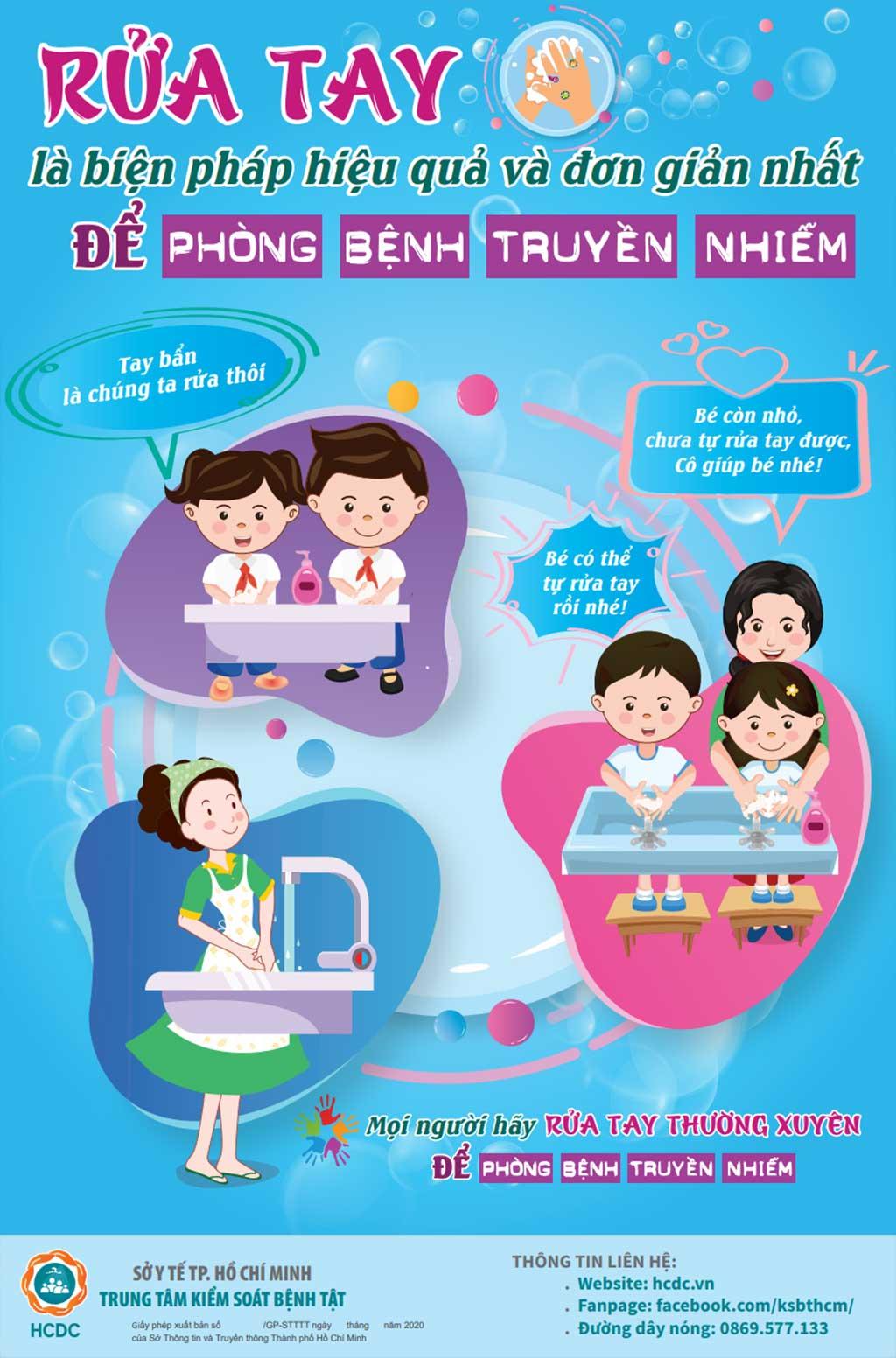 Rửa tay là biện pháp hiệu quả và đơn giản nhất để phòng bệnh truyền nhiễm